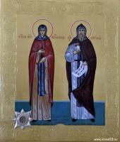 Святая преподобная Аполлинария и святой Кирилл